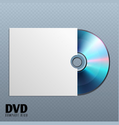 Dvd cd disk with white empty envelope cover vector