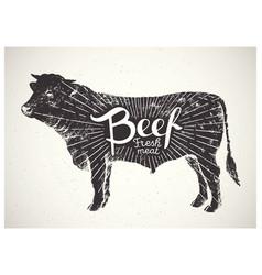 Silhouette bull beef vector
