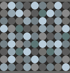 Tile pattern with blue and grey polka dots vector