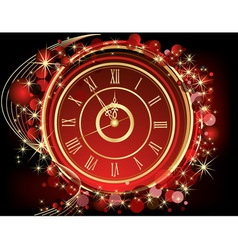 Happy new year background red and gold vector