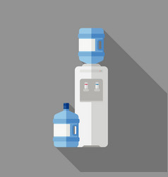 Water cooler with bottle vector