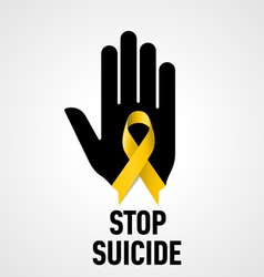 Stop suicide sign vector
