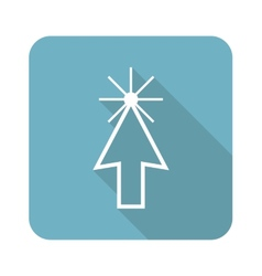 Square arrow cursor icon vector