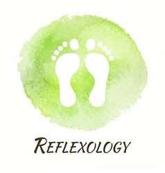 Reflexology watercolor concept vector