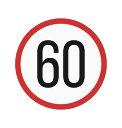 Speed limit 60 vector