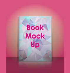 Book mockup template ready to place your vector