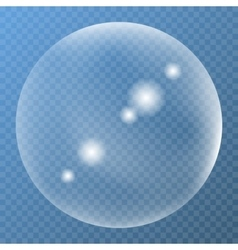 Unique bubble with glare icon vector