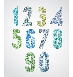 Pattern choppy colorful decorative numbers vector
