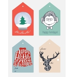 Set of christmas and new year tags vector