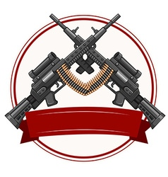 Logo design with fireguns vector