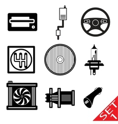 car parts vector image