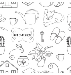 Home sweet home pattern vector