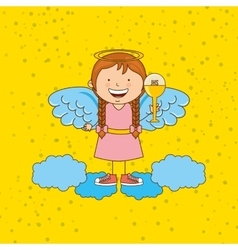 Cute angels design vector