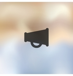 Megaphone icon on blurred background vector