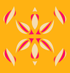 abstract flower oriental pattern vector image