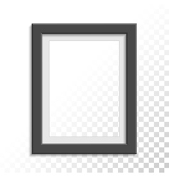 Black realistic photo frame vector image vector image