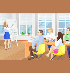 Business seminar in office vector