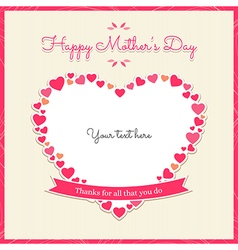 Cards thanks for all that you do happy mother day vector