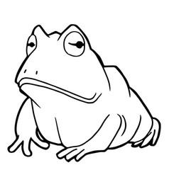 cartoon cute frog coloring page vector image vector image