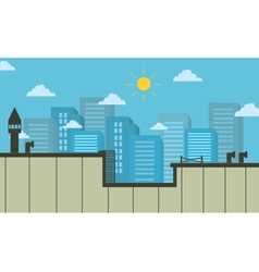 city landscape of silhouette for game vector image