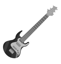 electric guitar icon gray monochrome style vector image