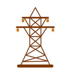 Electric tower icon energy label for web on white vector