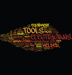 Electricians helper text background word cloud vector
