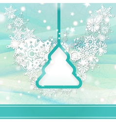 Elegant light blue christmas background vector