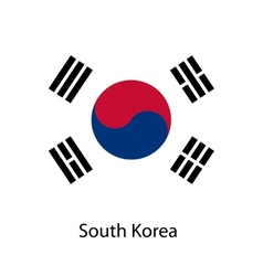 Flag of the country south korea vector image