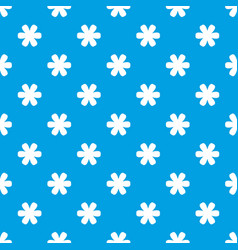 flower pattern seamless blue vector image