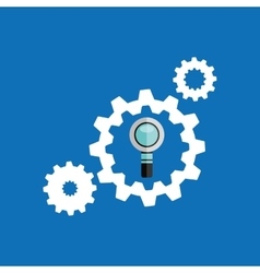 Gears icons search colaboration icon vector