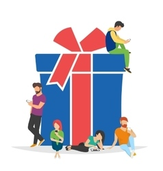 Gifts and presents concept vector image vector image