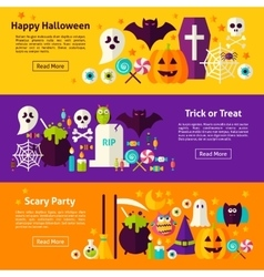 Halloween Web Horizontal Banners vector image vector image