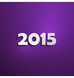 Happy new 2015 year creative poster design holiday vector image vector image
