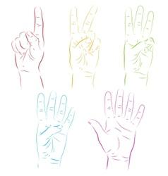 Human hands make numbers vector image