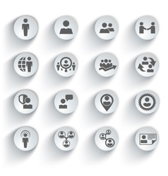 Human resources and management icons set vector image vector image