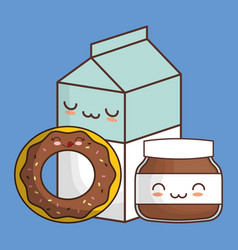 Kawaii food icon image vector