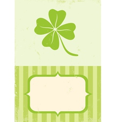 of clover with four leaves vector image vector image