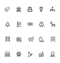 Park line icons 2 vector