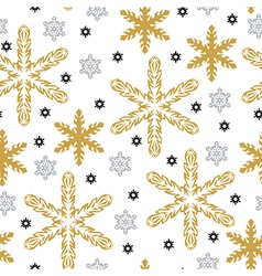 Pattern gold snow vector