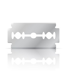 Razor blade realistic 3d object vector image