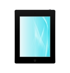Realistic black tablet pc computer isolated vector image