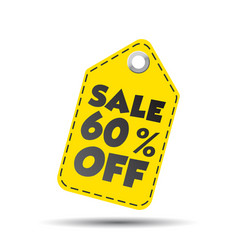 Sale 60 off hang tag vector