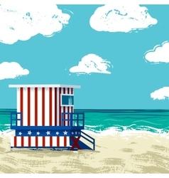 South Beach in Miami vector image vector image
