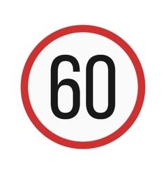Speed limit 60 vector