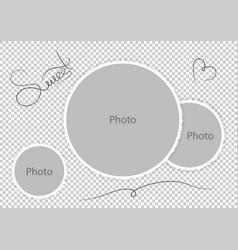 Sweet photoframes template wedding photo vector