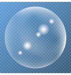 Unique bubble with glare icon vector