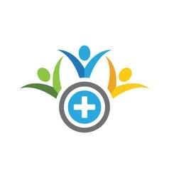 Vhealthy life logo vector