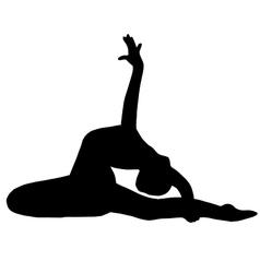 High quality original girl gymnastic doing stretch vector