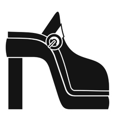 Women shoe icon simple style vector